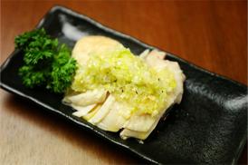 奥丹波鶏の冷製ねぎ生姜タレ